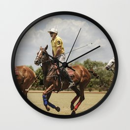 Pilar - Polo National Capital - Argentina Wall Clock