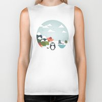 biology Biker Tanks featuring South Pole by General Design Studio