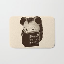 Hedgehog Book Don't Hurt The Ones You Love Bath Mat