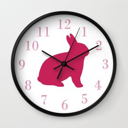 Giant Pink Bunny Wall Clock