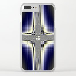 Fractal Cross Clear iPhone Case