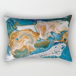 Matter of Time Macro Print Rectangular Pillow