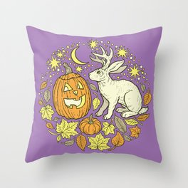 Halloween Friends | Spooky Brights Palette Throw Pillow