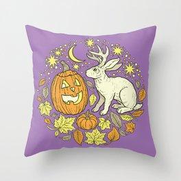 Halloween Friends | Spooky Brights Palette Throw Pillow