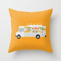 chef Throw Pillows featuring chef by Live It Up