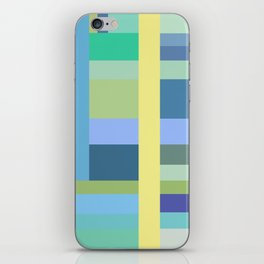 Abstract Blue Mint Green Geometry iPhone Skin