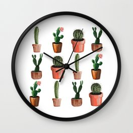 Various Cacti Wall Clock