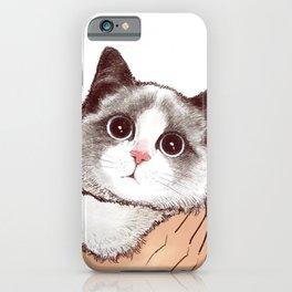 Cat : Don't kiss iPhone Case