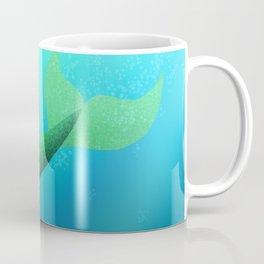 Underwater Swimming Mermaid Fins Green Coffee Mug
