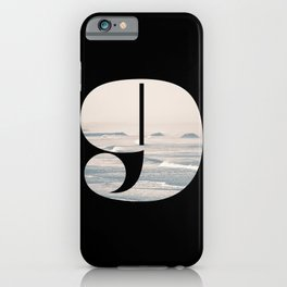 Nr. 9 | Numbers with a View | Typography Letter Art iPhone Case