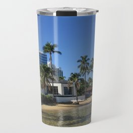 Beach at Caribe Hilton, San Juan, Puerto Rico Travel Mug