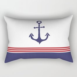 Nautical Anchor - Red, White and Blue Rectangular Pillow