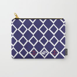 Diamond Anchor Personalized Print Carry-All Pouch