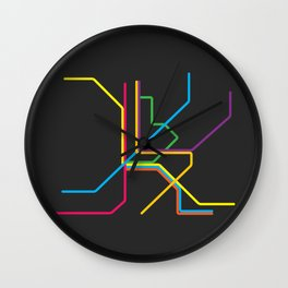 kuala lumpur metro map Wall Clock