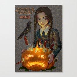 Wednesday Addams - Homicide Canvas Print