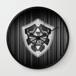 Zelda Black Shield Wall Clock