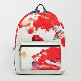 Red Chaos - Abstract Melted Crayon Art Backpack