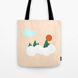 geo mountains Tote Bag