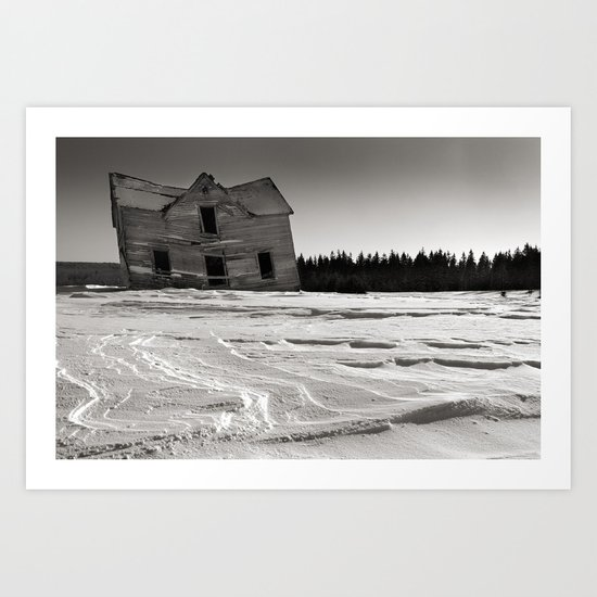 Adrift in Winter Art Print