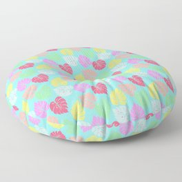 Pastel Rainbow Monstera Floor Pillow