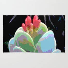 Cactus Flower Abstract Rug