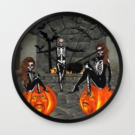 Elfish Skeletons Home Sweet Home Wall Clock