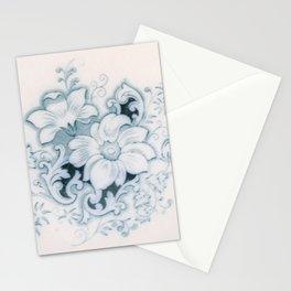 Vintage Flower Flow Stationery Cards