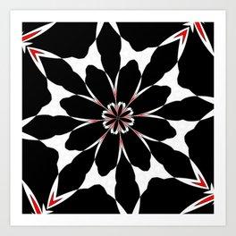 Bizarre Red Black and White Pattern 4 Art Print