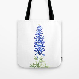 Texas bluebonnet in watercolor Tote Bag