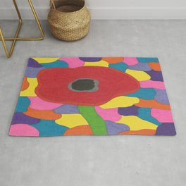 Stained Glass Poppy Rug