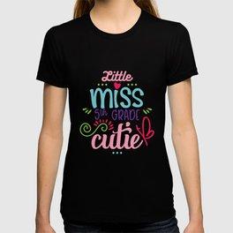 Little Miss 5th Grade Cutie T-shirt