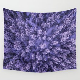 Aerial Pine Wall Tapestry