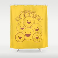 cookies Shower Curtains featuring Cookies by Artificial primate