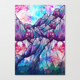 Colour tone peaks Canvas Print