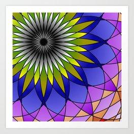 Daisy Mandala Art Print
