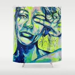 Auguste by carographic Portraitpainting Acrylic Shower Curtain