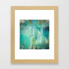Aqua Circumstance Framed Art Print