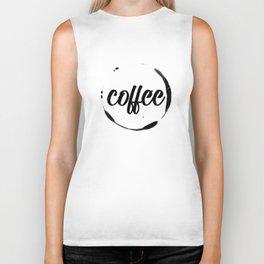 coffee stained Biker Tank