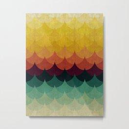 Colorful minimalist waves Metal Print