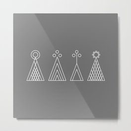 Latvian God signs Metal Print