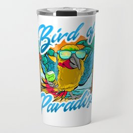 Bird Of Paradise Parrot Relaxing Beach Vacation Travel Mug