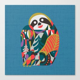 Nordic Sloth Canvas Print