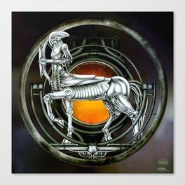 """Astrological Mechanism - Sagittarius"" Canvas Print"