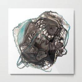 Geodic Heart Metal Print