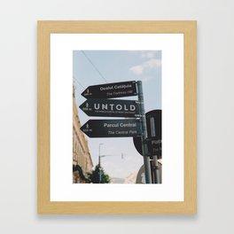 Untold Framed Art Print