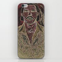 nick cave iPhone & iPod Skins featuring Cave by Alec Goss