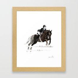 Horse (Jumper II) Framed Art Print