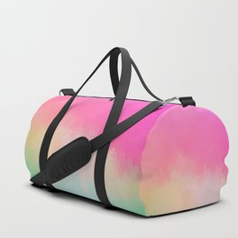 Modern Contemporary Pink Pastel Abstract Duffle Bag
