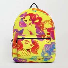 Pattern with glamour curly girls Backpack