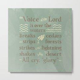 Psalm 29 Metal Print